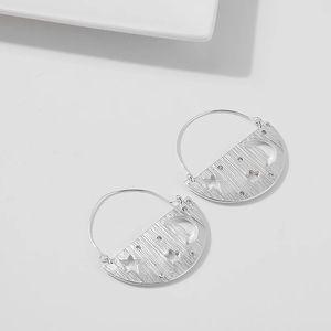 Gold / Silver Half Star & Moon Earrings